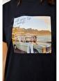Setre Mint Baskılı Kısa Kol T-Shirt Siyah